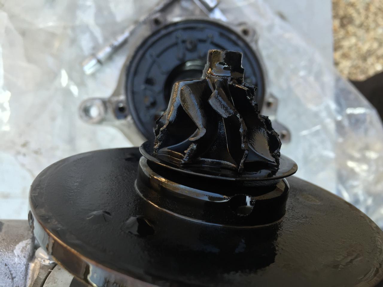 Corps étranger turbine échappement